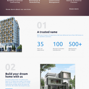 vvbuilders.co.in home page screenshot