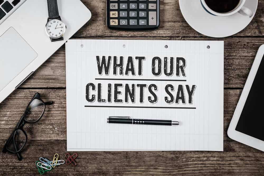 testimonials of clients