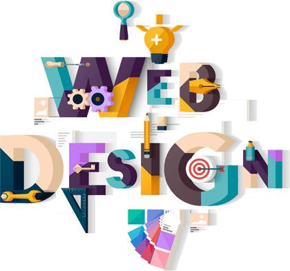 web designing 3D flat image