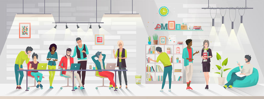 Creative co-working team concept image