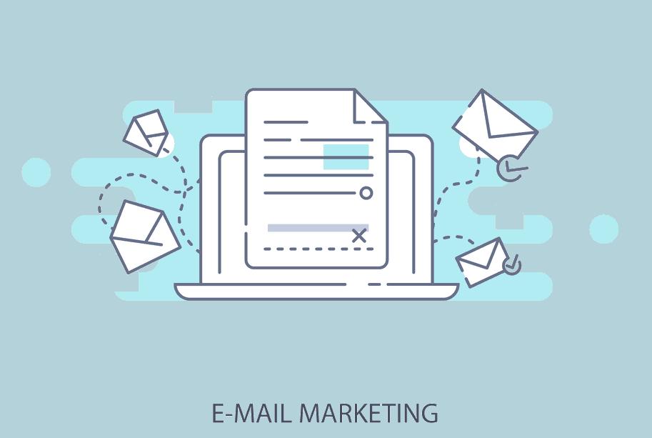 Email marketing flat image