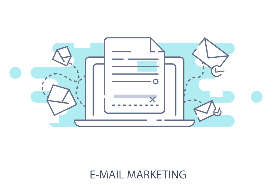 Email marketing flat image