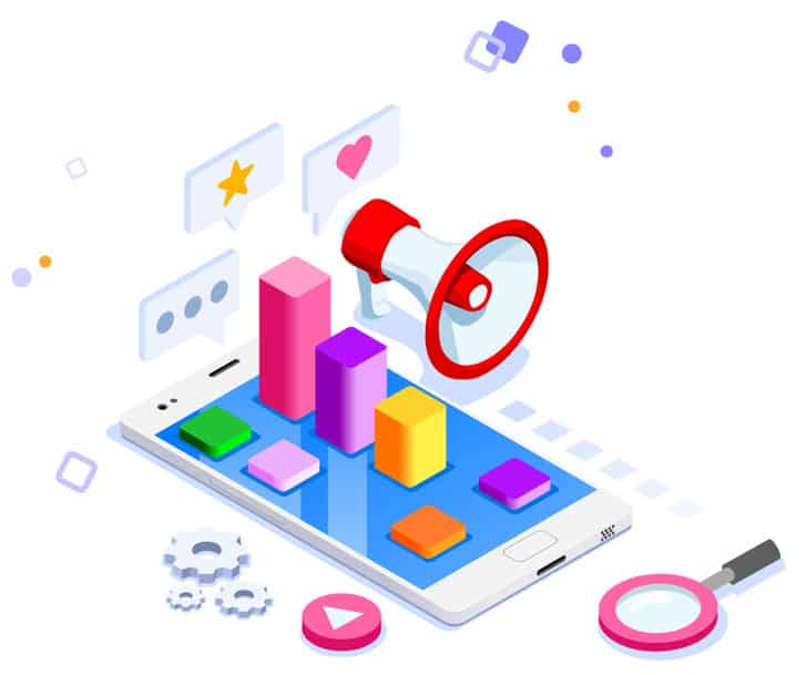 Mobile Marketing Services flat image