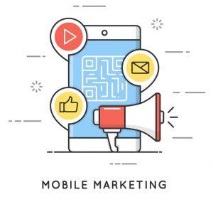 Mobile Marketing flat image