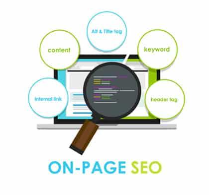 On Page SEO flat image