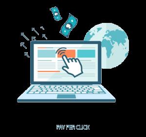 pay per click flat image