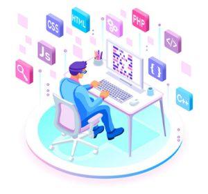 Web Development flat image