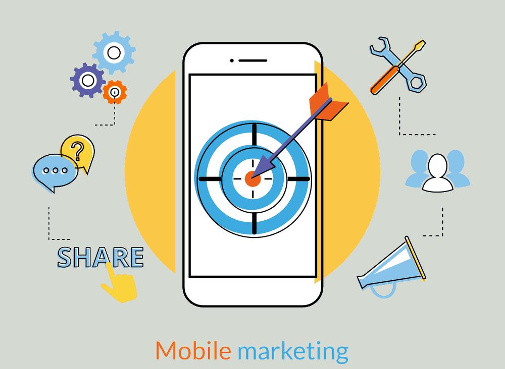 mobile marketing flat image png