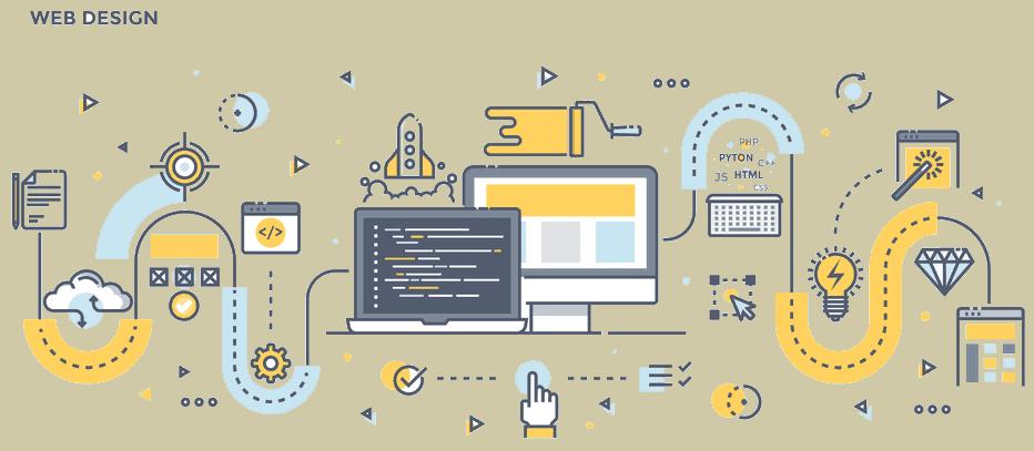web design flat image