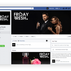 Facebook Page Mockup Friday Fresh